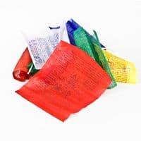 String of 10 Mini Tibetan Prayer Flags - Clouds Online